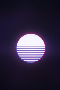 720x1280 Retrowave Sun