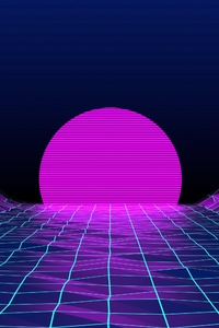 Retrowave Sunrise