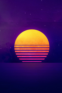 Retrowave Sunset