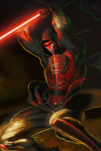 Revan With Lightsaber Star Wars