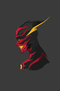 360x640 Reverse Flash Minimal Art 4k
