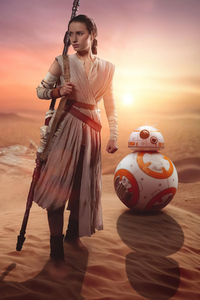 720x1280 Rey And Bb8 Cosplay 4k