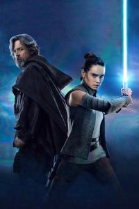 Rey And Luke Star Wars The Last Jedi