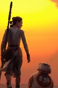 240x400 Rey BB8 Star Wars