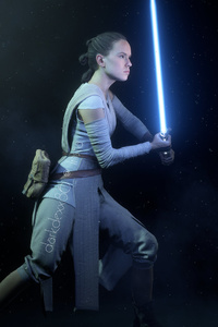 Rey In Star Wars Battlefront II