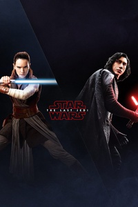 320x480 Rey Kylo Ren In Star Wars The Last Jedi 4k