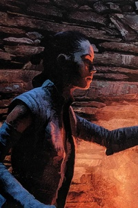 540x960 Rey Kylo Ren In Star Wars The Last Jedi Art