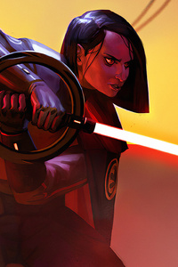 1080x2280 Rey Red Lightsaber