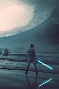 1080x2160 Rey Rise Of Skywalker 4k