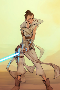 720x1280 Rey Skywalker Star Wars Fanart 5k