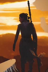1280x2120 Rey Star Wars Artwork