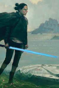 Rey Star Wars The Last Jedi Art