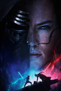 1080x2160 Rey Vs Kylo Ren Star Wars The Rise Of Skywalker 2019