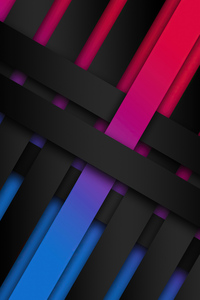 1080x2280 Ribbon Shapes Abstract 4k