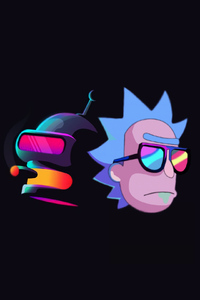 1080x2280 Rick And Bender
