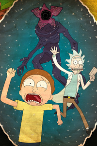 480x854 Rick And Morty 4k