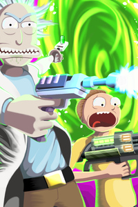 2160x3840 Rick And Morty 8k 2020
