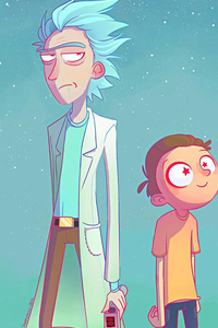 480x854 Rick And Morty Artwork