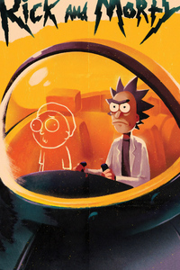 540x960 Rick And Morty Cartoon Art 4k