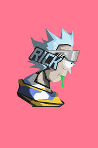 1080x1920 Rick And Morty Facet Minimal 8k