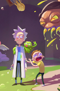 1440x2960 Rick And Morty Season 4