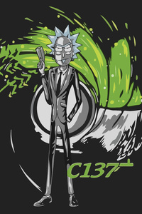 Rick Sanchez As James Bond Artwork