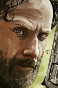 Rick Walking Dead 5k Artwork
