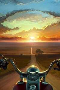 240x400 Riding Bike Art