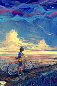 320x480 Riding Bike To Dreamland