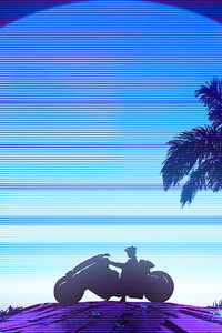 Riding To Synthwave Beach