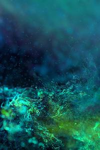 1125x2436 Ring Green Digital Abstract