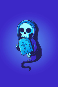 480x854 Rip Skull Illustration