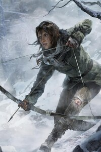 640x960 Rise Of The Tomb Raider Game 2016
