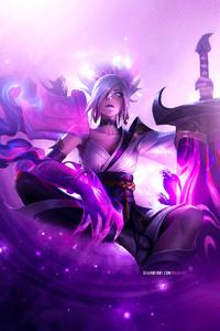 1440x2960 Riven League Of Legends Artwork 4k