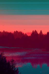 720x1280 River Evening Digital Art 4k