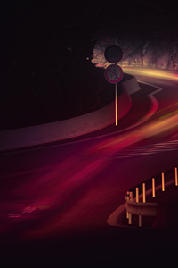 1242x2688 Road Long Exposure Lights 5k