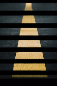Road Street Crossing Yellow Lines Abstract 5k