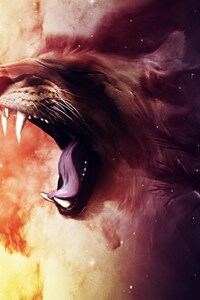 320x480 Roaring Lion