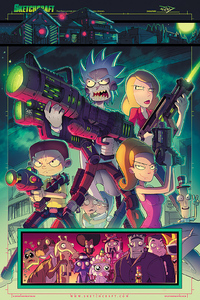 Rob Duenas Rick And Morty Total Rickall Tribute