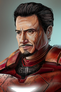 240x320 Robert Downey JR As Tony Stark