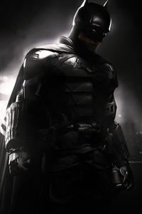 1242x2688 Robert Pattinson The Batman Suit 4k