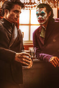 Robert Pattison And Joker Joaquin Phoenix