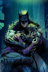 Robin Crying In Batman Arms
