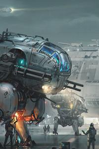 640x1136 Robot Army 4k