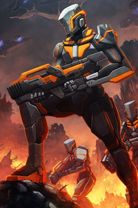Robot Soldiers Scifi Digital Concept Art 4k