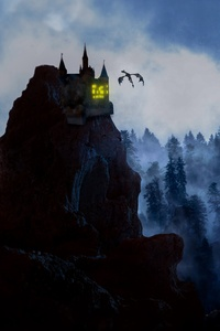 480x800 Rock Castle Dragon 5k