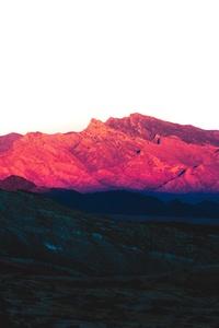 320x568 Rock Pink Peak Mountains Landscape 5k