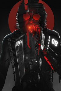 1440x2960 Rockerboy Johnny Cyberpunk 2077 5k