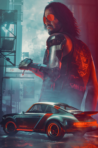 360x640 Rockerboy Johnny Cyberpunk 2077