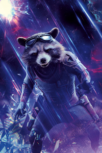 750x1334 Rocket Avengers End Game 8k